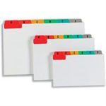Concord Guide Cards A-Z 127x76mm White with Multicoloured Tabs