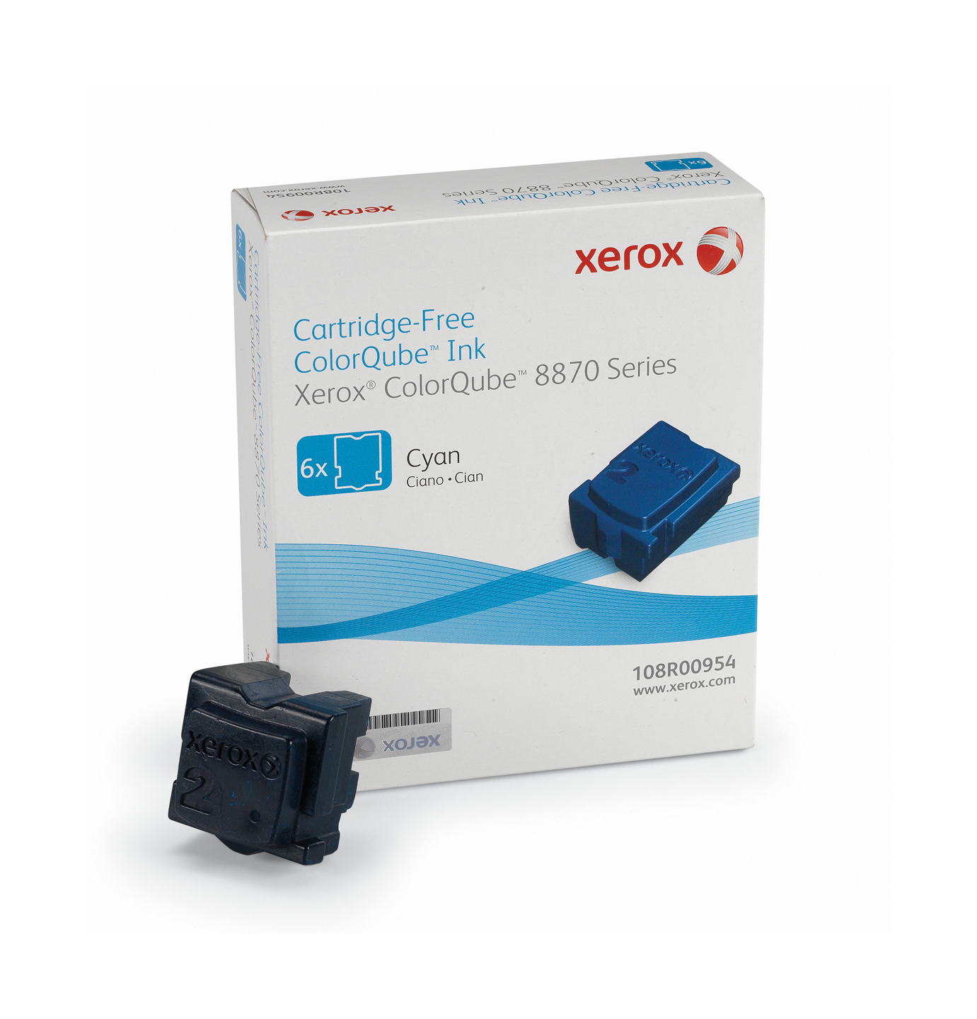 Xerox 108R00954 Dry ink in color-stix, 17.3K pages, Pack qty 6