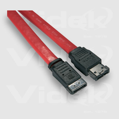 Videk eSATA Male to SATA Male External Cable 0.5m SATA cable Red