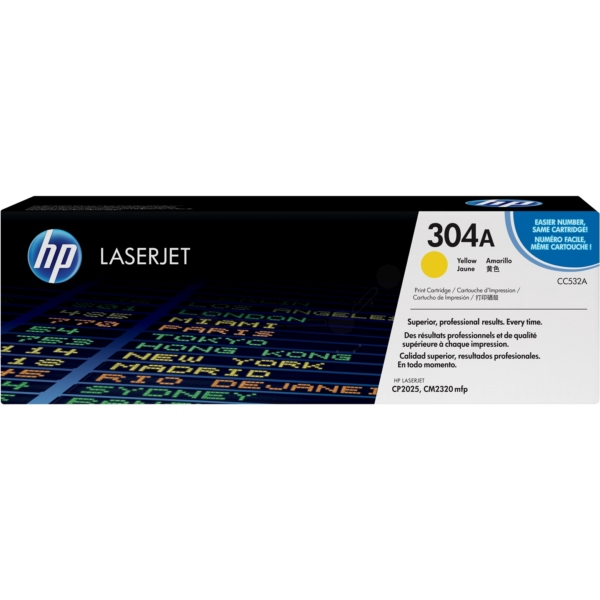HP CC532A (304A) Toner yellow, 2.8K pages