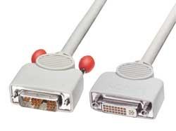 Lindy 10m DVI cable DVI-D White