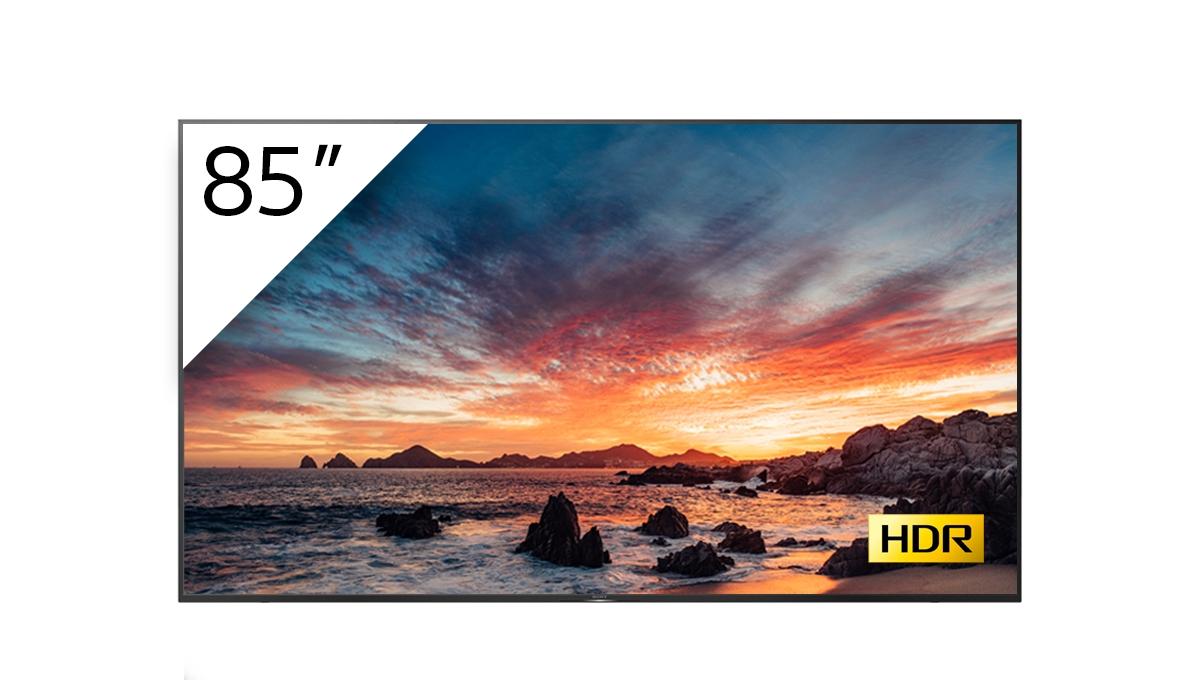 """Sony FWD-85X80H/T pantalla de señalización 2,15 m (84.6"""") VA 4K Ultra HD Pantalla plana para señalización digital Negro Procesador incorporado Android 9.0"""