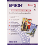 Epson Premium Semigloss Photo Paper, DIN A3+, 250g/m², 20 Sheets