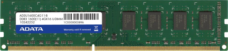 ADATA 4GB DDR3 - 1600 MHz 4GB DDR3 1600MHz memory module