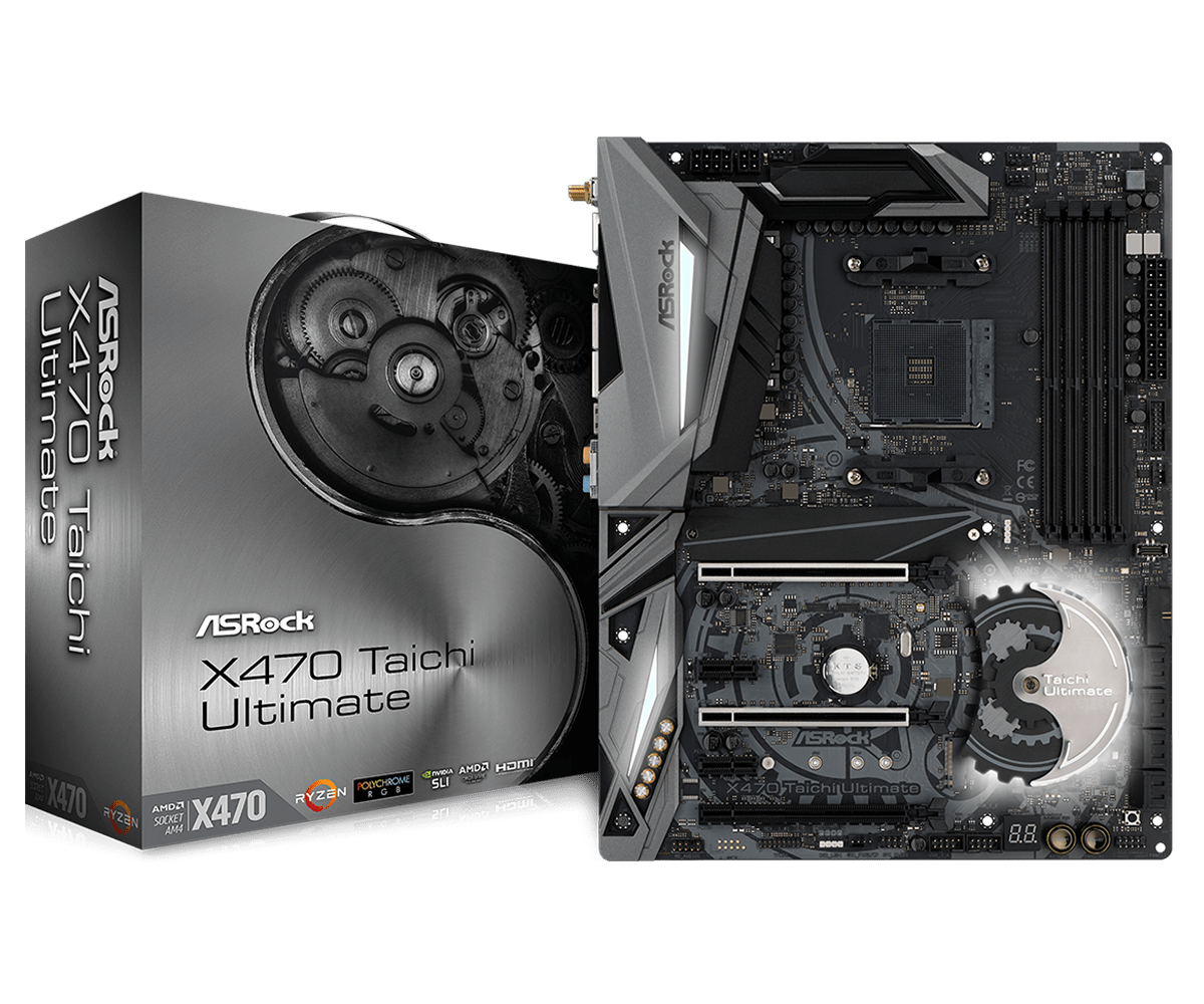Asrock X470 Taichi Ultimate AMD Promontory X470 Socket AM4 ATX