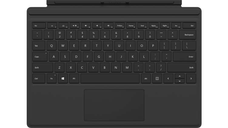 Microsoft Surface Pro Type Cover mobile device keyboard UK English Black Microsoft Cover port