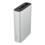 Belkin 6600mAh Premium Battery Pack 3.4amp Dual USB Ports for Smartphone Tablets iPhone iPad Silver