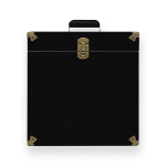 mBeat Vinyl Record Storage Carrier Case (Vintage Black)