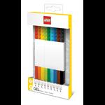 LEGO PEN LEGO GEL PEN W/BUILDABLE BRICKS WHITE PK9(EACH)