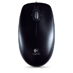 Logitech B110 USB Optical 800DPI Ambidextrous Black mice