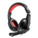 Mars Gaming MRH0 auricular con micrófono Diadema Binaural Negro, Rojo