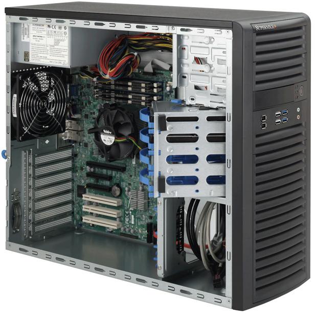 Supermicro SuperChassis 732I-500B Midi-Tower 500W Black computer case