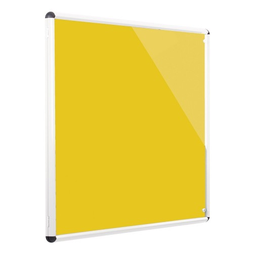 Metroplan Shield Design insert notice board Indoor White, Yellow Aluminium