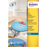 Avery C9660-25 White CD/DVD printer label