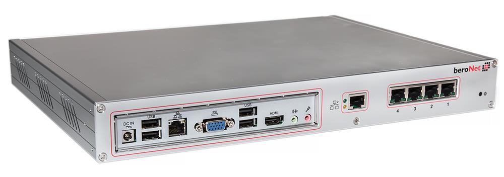 New Beronet Telephony Appliance 2 x BRI 2 x FXS Atom 4 x USB 2GB