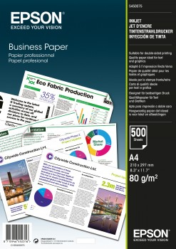 Epson Business Paper 80gsm 500 shts A4 (210×297 mm) White inkjet paper C13S450075