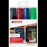 Edding Chalk Marker 4090 Broad Nib Assorted Pk4