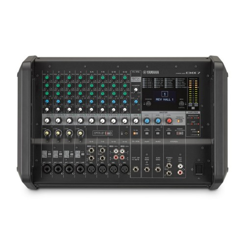 Yamaha EMX7 audio mixer 12 channels Black