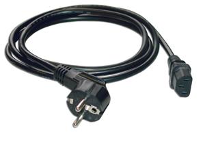 MCL Power Cable Black 2.0m cable de transmisión Negro 2 m