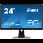 "iiyama ProLite B2483HSU-B1DP LED display 61 cm (24"") 1920 x 1080 pixels Full HD Black"