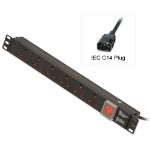 Lindy 73561 surge protector Black 6 AC outlet(s) 250 V 3 m