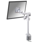 """Newstar Full Motion Desk Mount (clamp) for 10-30"""" Monitor Screen, Height Adjustable - Silver"""