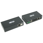 Tripp Lite 4-Port Industrial USB over Cat5/6 Extender Kit with ESD Protection - USB 2.0, 45.72 m, Black