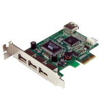 StarTech.com 4 Port PCI Express Low Profile High Speed USB Card interface cards/adapter