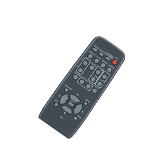 Hitachi HL02771 IR Wireless push buttons Black remote control