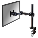 "Newstar Full Motion Desk Mount (clamp) for 10-30"" Monitor Screen, Height Adjustable - Black"