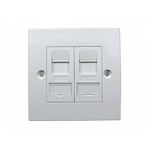 Cables Direct UT-899CAT6AFPL02 White switch plate/outlet cover