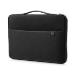 "HP 3XD35AA notebook case 39.6 cm (15.6"") Sleeve case Black,Gold"