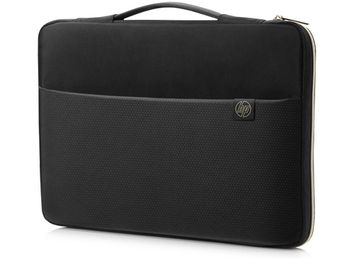 "HP 3XD35AA 15.6"" Sleeve case Black, Gold"