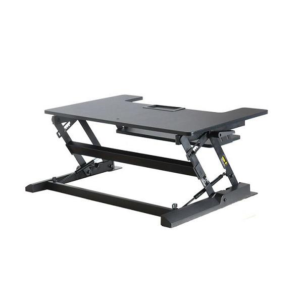 Vision Mounts Black Height Adjustable Sit & Stand Desk