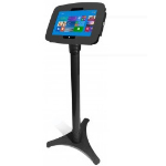 Maclocks Space Surface Adjustable Floor Stand Kiosk - Aluminium Black  - by Maclocks (147B530GEB)
