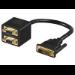 MicroConnect Adapter DVI 12+5 -2x HD15 M-F