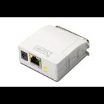 Digitus DN-13001-1 print server Ethernet LAN White