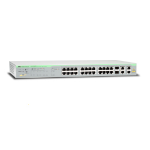 Allied Telesis AT-FS750/28PS network switch Managed Gigabit Ethernet (10/100/1000) Grey Power over Ethernet (PoE)