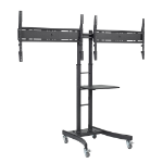 Atdec Telehook TH-TVCD - Portable flat panel floor stand Black