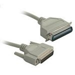 C2G 5m IEEE-1284 DB25/C36 Cable 5m Grey printer cable