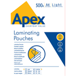 Fellowes APEX LAM POUCH A4 LIGHT DUTY 500PK