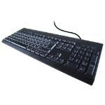 COMPUTER GEAR USB Multimedia Keyboard - Black, (24-0233)