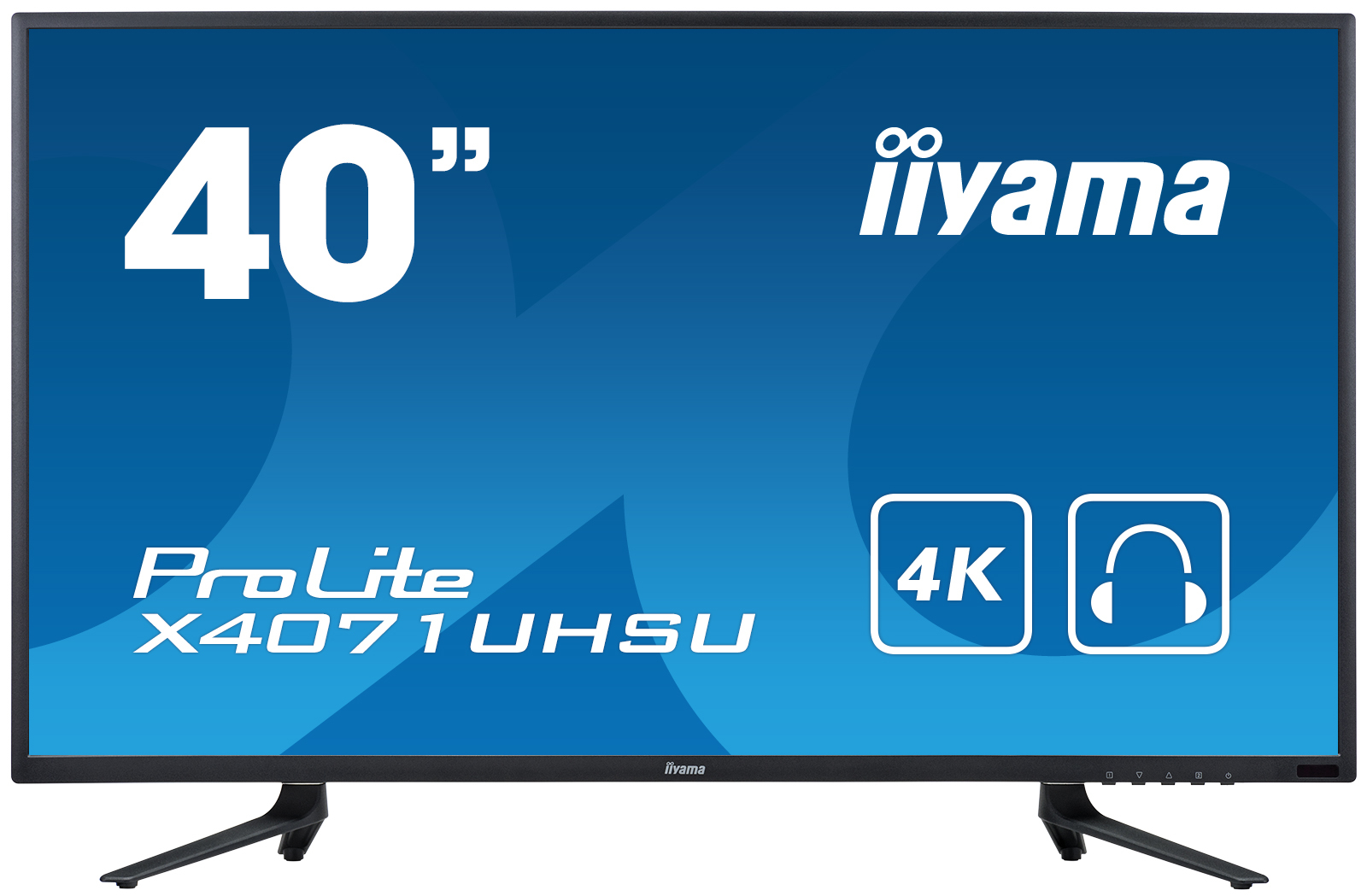 "iiyama ProLite X4071UHSU-B1 LED display 100.3 cm (39.5"") 4K Ultra HD Flat Matt Black"