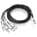 Hewlett Packard Enterprise StorageWorks 4m External Mini-SAS to 4x1 Mini-SAS Cable 4m