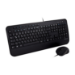 V7 Full Size USB Keyboard with Palm Rest and Ambidextrous Mouse Combo - DE