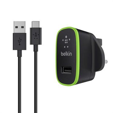 Belkin F7U001VF06-BLK Indoor Black,Green mobile device charger