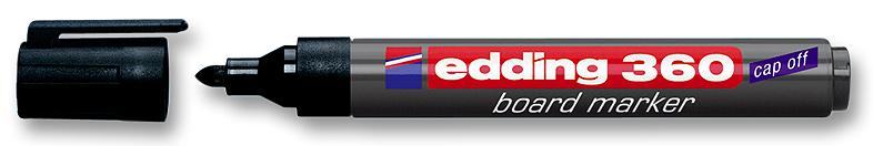 Edding 360 Whiteboard Marker Bullet Tip 1.5-3mm Black PK10