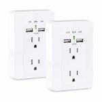 CyberPower MP18HO007 socket-outlet 2 x USB A + 2 x NEMA 5-15 White