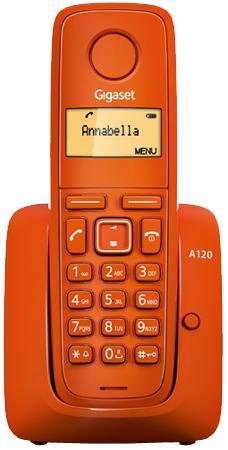Gigaset A120 Teléfono DECT Naranja Identificador de llamadas
