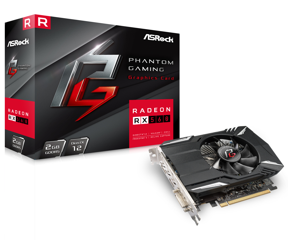 Asrock 90-GA0400-00UANF graphics card Radeon RX 560 2 GB GDDR5